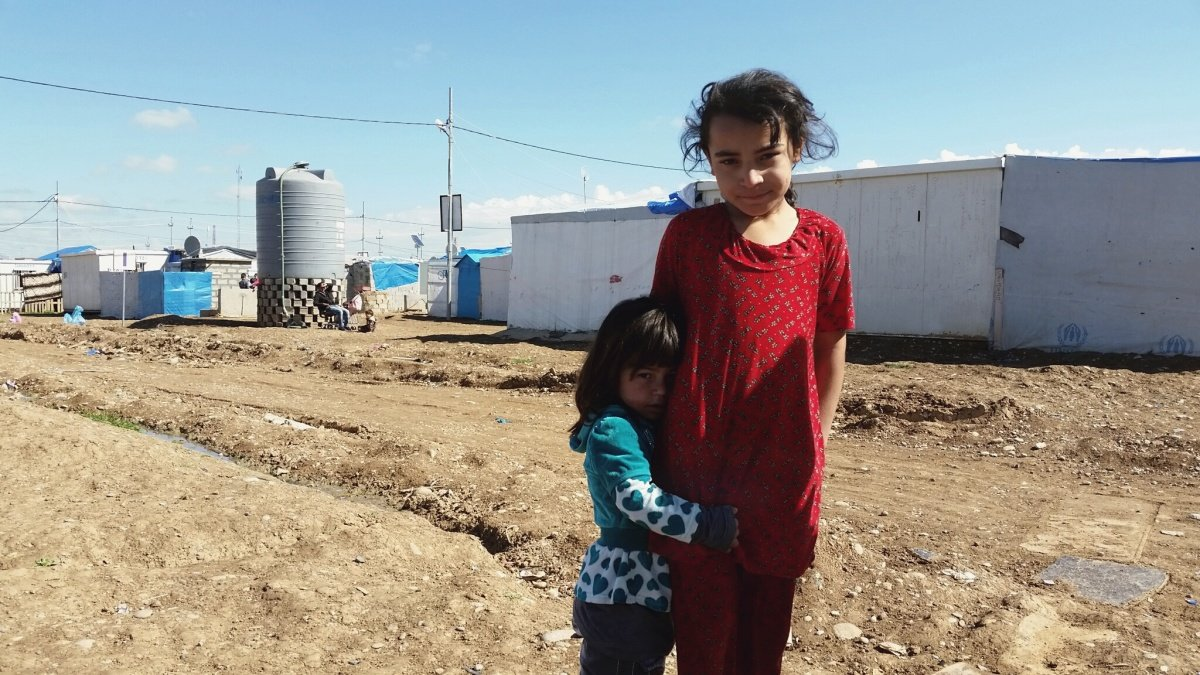 Dzieci z obozu w Harsham