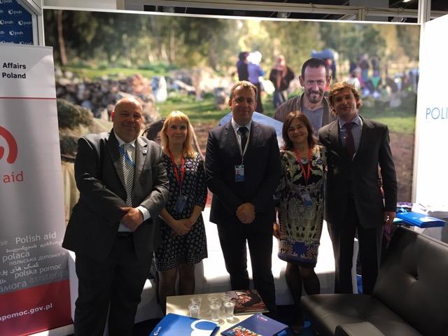 Przedstawiciele Polskiej Akcji Humanitarnej (PAH), PCPM i Polskiej Misji Medycznej (PMM) podczas Szczytu Humanitarnego w Stambule, Archiwum PMM